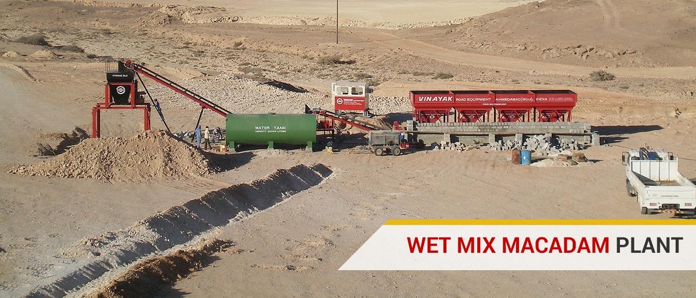 Wet Mix Mecadam Plant