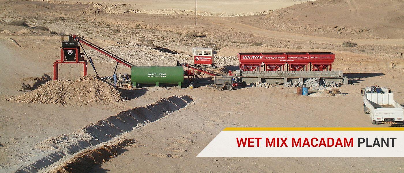 Wet Mix Mecadam Plant manufacturer, supplier